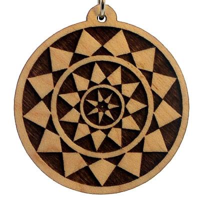 Arabian Nights Wood Pendant
