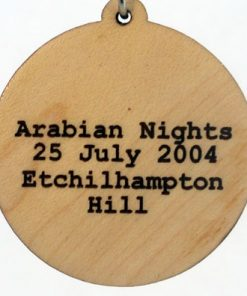 Arabian Nights Wood Pendant