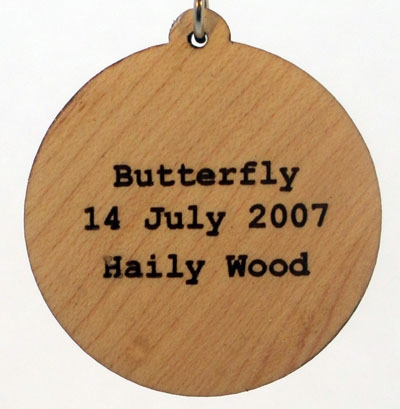 Butterfly Wood Pendant