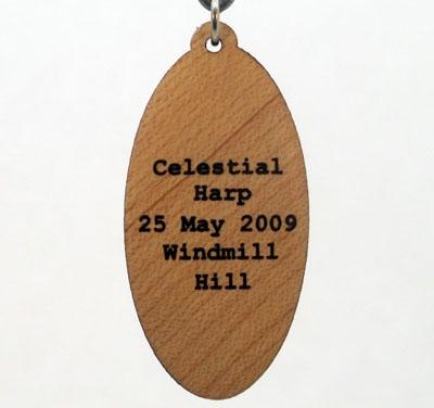 Celestial Harp Wood Pendant