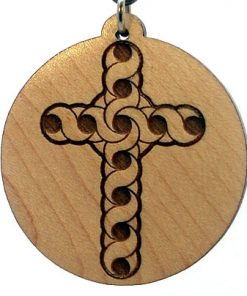 Celtic Cross Wood Pendant