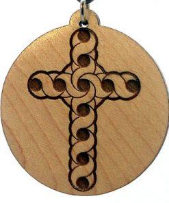 Celtic Cross Wood Pendant