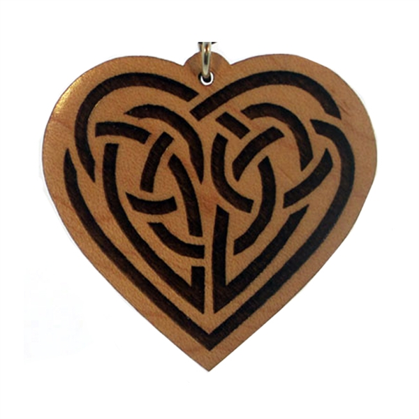 Celtic Heart Wood Pendant