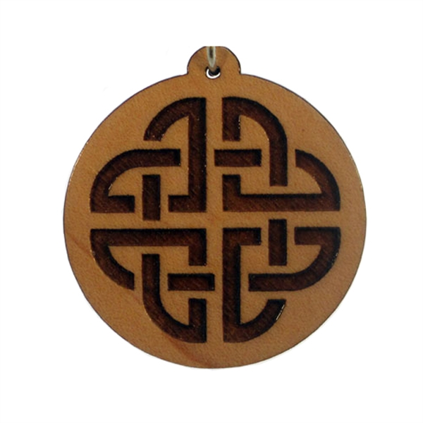 Celtic Knot Wood Pendant