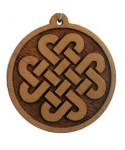 Celtic Links Wood Pendant