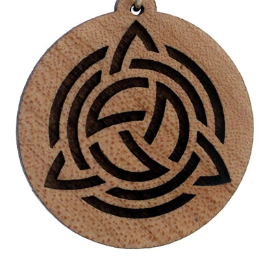 Celtic Shield Wood Pendant