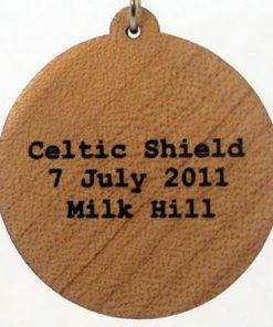 Celtic Shield Wood Pendant