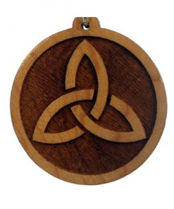 Celtic Trinity Wood Pendant