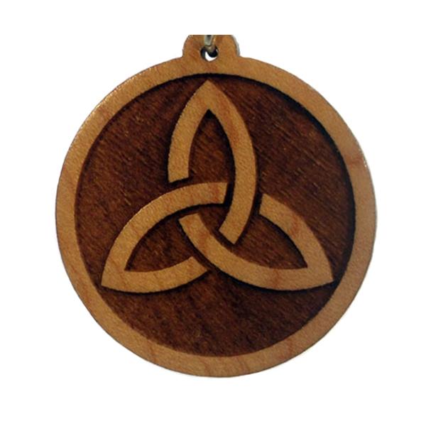 Celtic Trinity Wood Pendant
