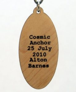 Cosmic Anchor Wood Pendant