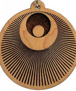 Cosmic Angel Wood Pendant