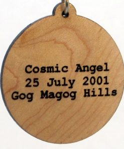Cosmic Angel Wood Pendant