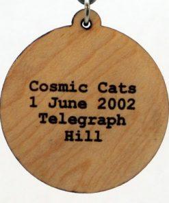 Cosmic Cats Wood Pendant
