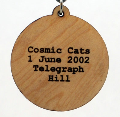 Cosmic Cats Wood Pendant