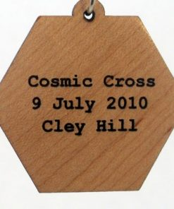 Cosmic Cross Wood Pendant