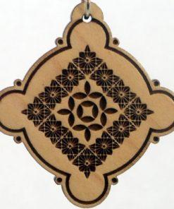 Cosmic Duvet Wood Pendant