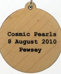 Cosmic Pearls Wood Pendant