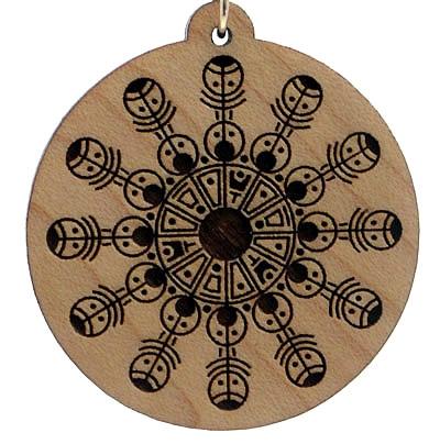 Cosmic Rattles Wood Pendant