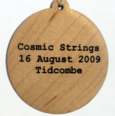 Cosmic Strings Wood Pendant