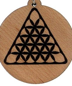 Creative Triangle Wood Pendant