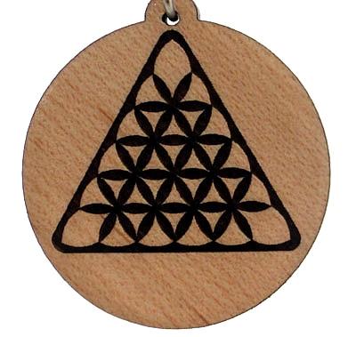 Creative Triangle Wood Pendant