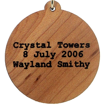 Crystal Towers Wood Pendant