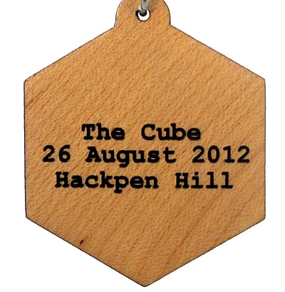 Cube Wood Pendant