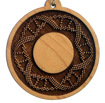 DNA Spiral Wood Pendant