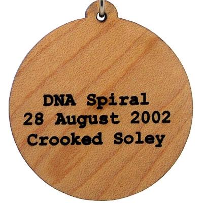 DNA Spiral Wood Pendant