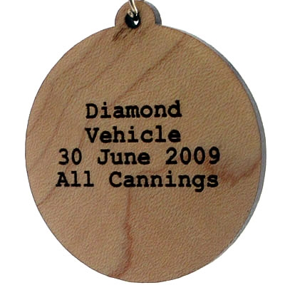 Diamond Vehicle Wood Pendant
