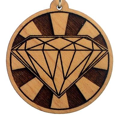 Diamond Wood Pendant