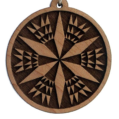 Divine Number 72 Wood Pendant