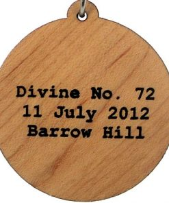 Divine Number 72 Wood Pendant