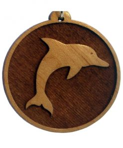 Dolphin Wood Pendant