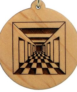 Doorway Wood Pendant