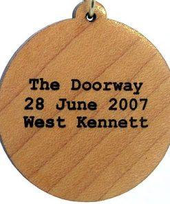 Doorway Wood Pendant