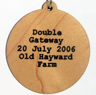 Double Gateway Wood Pendant