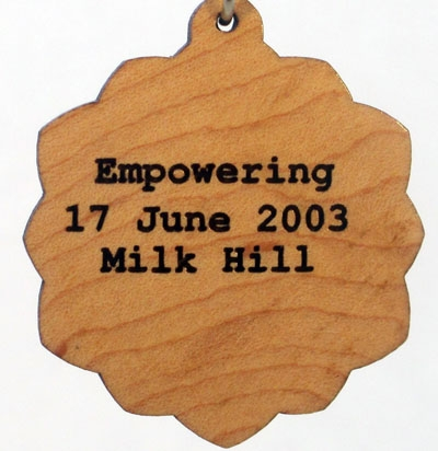 Empowering Wood Pendant