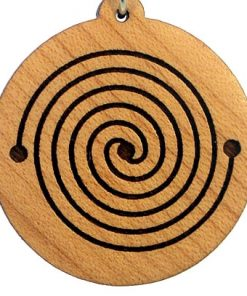 Energy Spiral Wood Pendant