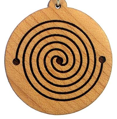 Energy Spiral Wood Pendant