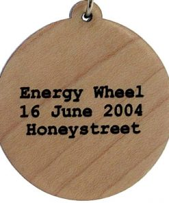 Energy Wheel Wood Pendant