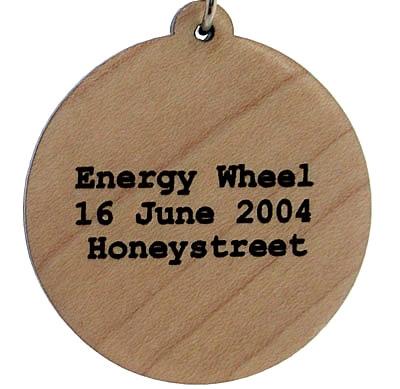 Energy Wheel Wood Pendant