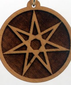 Fairy Star Wood Pendant