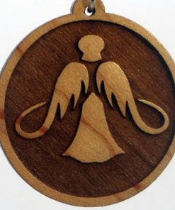 Floating Angel Wood Pendant