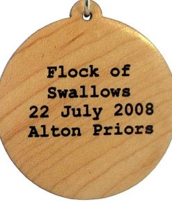 Flock of Swallows Wood Pendant