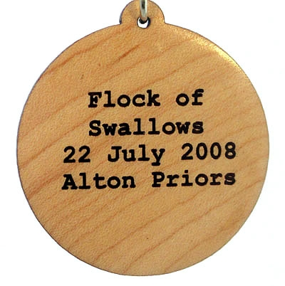 Flock of Swallows Wood Pendant