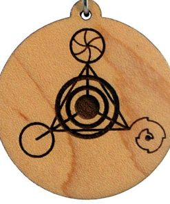 Fourth Dimension Wood Pendant