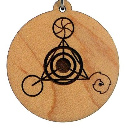 Fourth Dimension Wood Pendant