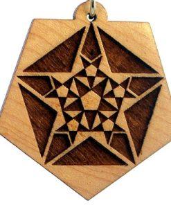 Fractals Wood Pendant