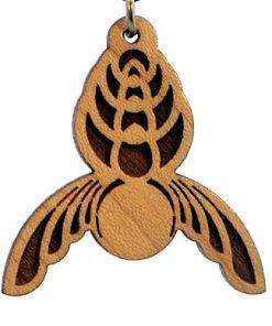 Galactic Angel Wood Pendant